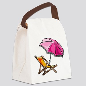 BEACH CHAIR [3] Canvas Lunch Bag